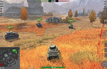 World of Tanks: Blitz — стандартный FPS