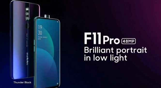 Представили Oppo F11 и F11 Pro: безграничный дисплей с каплевидной и всплывающей фронтальной камерой, от 290 $