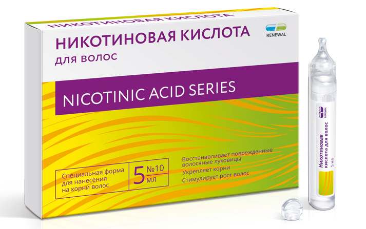 Никотиновая кислота для волос 5 мл, № 10 renewal
