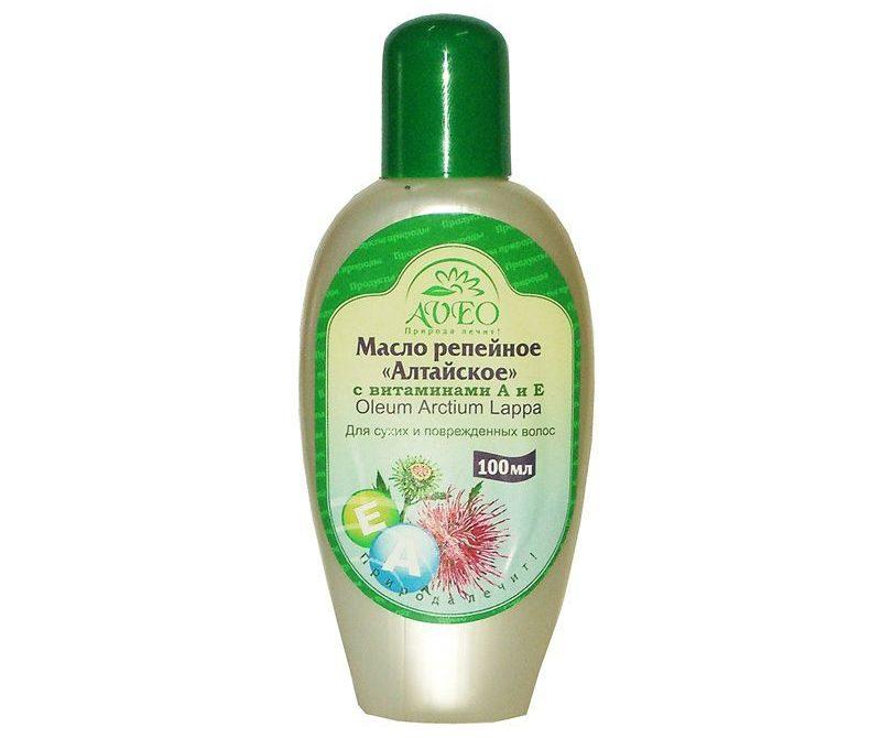 AVEO Масло репейное для волос Алтайское с витаминами А и Е