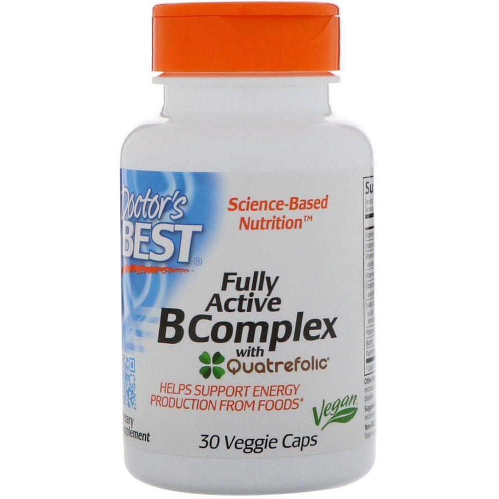 Doctor's Best Doctor's Best, Высоко активный комплекс витаминов группы B