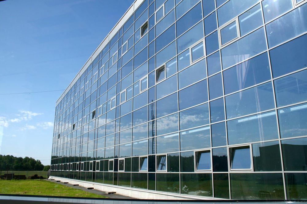 Фасадные панели из стекла